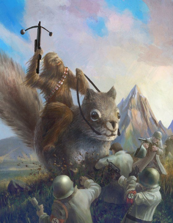 Chewbacca On a Giant Squirrel Fighting Nazis Chewy-nazi-squirrel1-e1280266068995