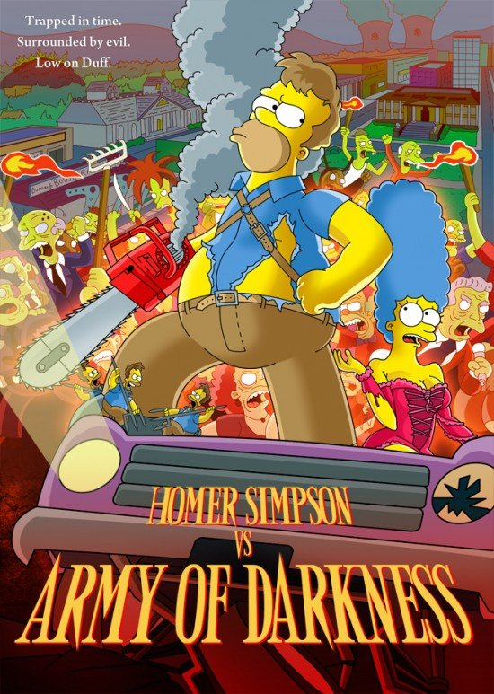 homenajes y parodias del cine de terror...maldita sea!!!! - Página 4 Homer_vs_Army_of_Darkness-e1283192001628