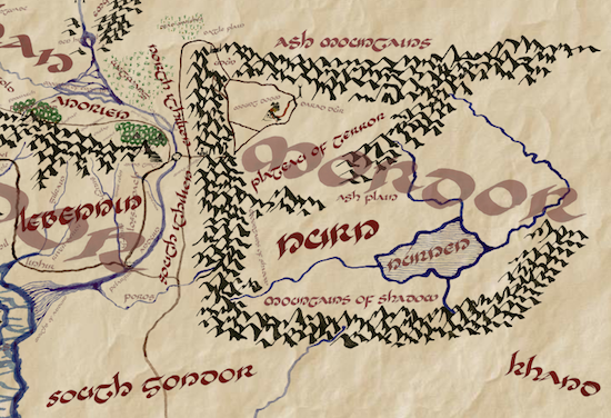 ennorath is an interactive map of middle earth