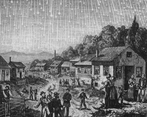 Leonid Meteor Shower 1833 The Leonid Meteor Shower