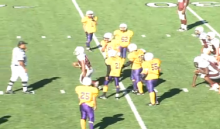 Middle school football trick play - Driscoll Middle School
