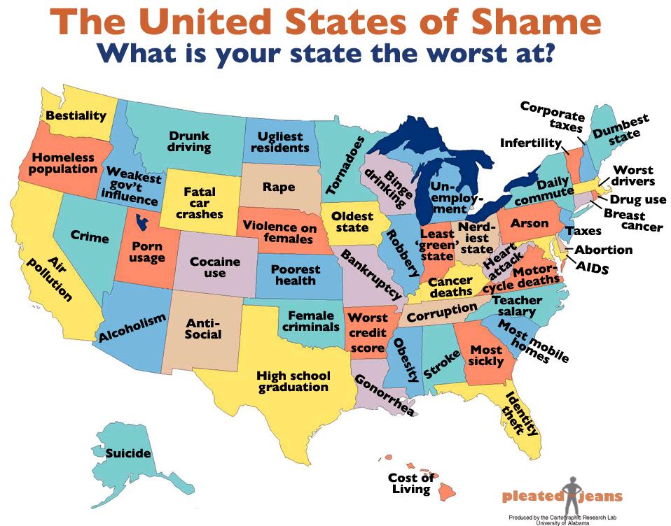 Ohio Is The Nerdiest State The Mary Sue - Ohio us map