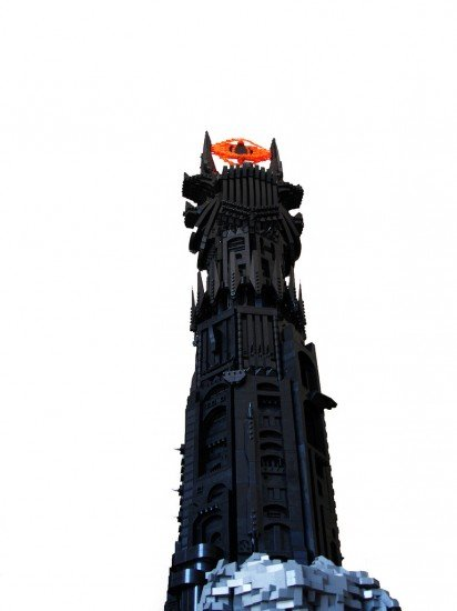 Lord Of The Rings Barad D 251 R Tower Made Of Lego The Mary Sue
