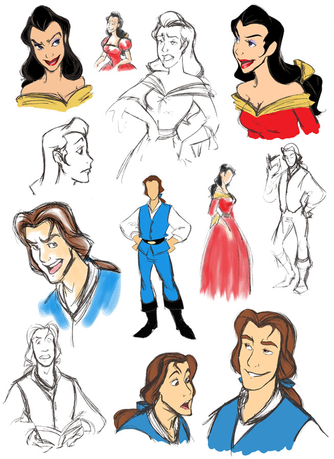 And Not Just Swapping Their Faces Hard To Tell From These But We Hope Gastette Is At Least Really Tall Beau Looks An Awful Lot Like The Prince Beast No