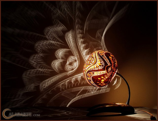 Artist Carves Intricately Designed Lamps Out of Gourds ...