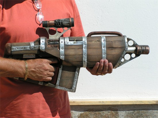 Wood and metal steampunk nerf gun the mary sue for Cool diy gadgets