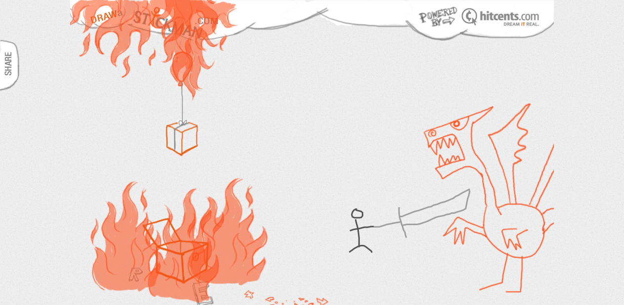 Draw A Stickman And Help Him Fight Dragons In Your Browser The