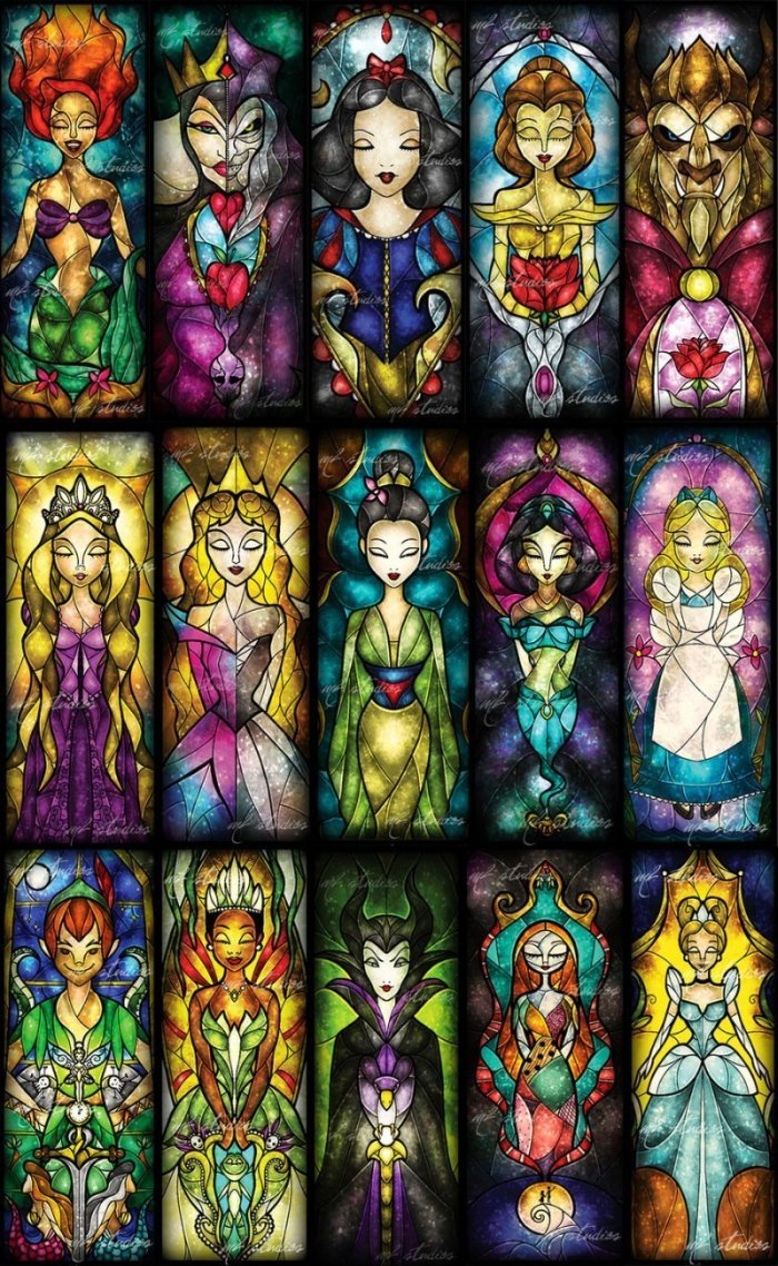 Stained Glass Disney Art | The Mary Sue