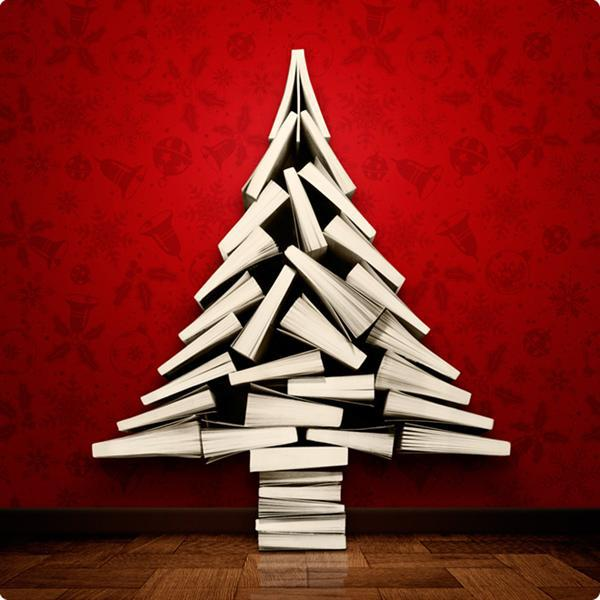 12 Christmas Trees Made Out Of Books | The Mary Sue