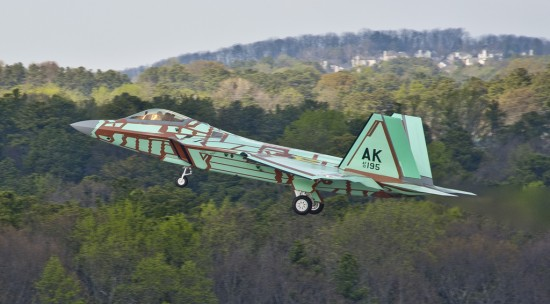 First Flight Of The Last F 22 Raptor The Mary Sue