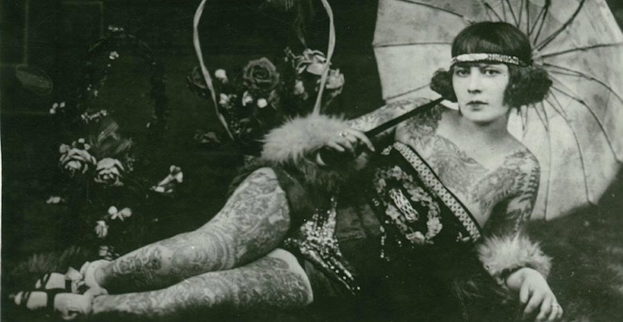 vintage-tattooed-lady-cropped Vintage Tattoos For Women