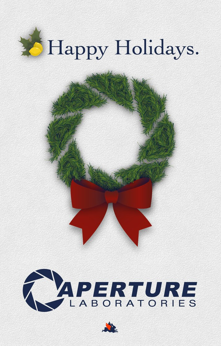 Portal Christmas Cards for Testing Purposes | The Mary Sue