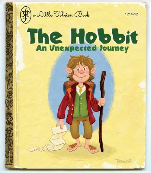 Children S Book Cover Canvas Art : The hobbit as a little golden book mary sue
