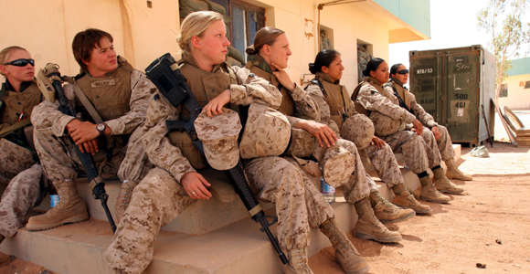 a discussion on the role of women in the military The second reason women have been excluded from units below brigade level is the need to maintain unit cohesion, as allowing women to operate in male-dominated military roles would distract men from mission aims, because they would seek to protect women.