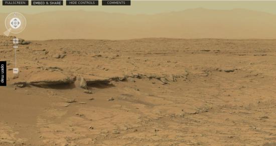mars surface curiosity panorama - photo #11