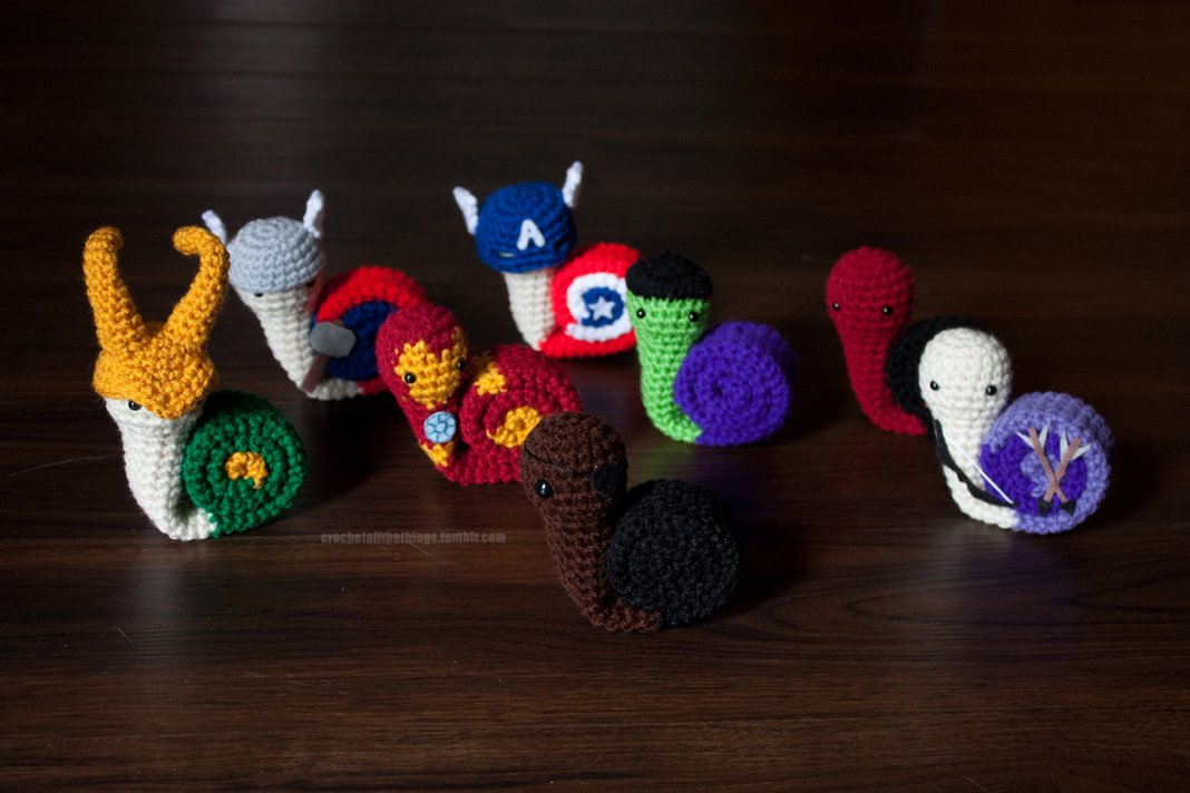 Crocheted Avengers Snails Scoodies Hat Scarves The Mary Sue