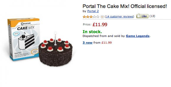 Portal Cake Mix Officially Licensed