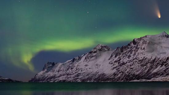northern lights comet - photo #20