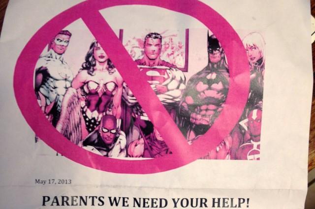Anti Superhero Letter Cover