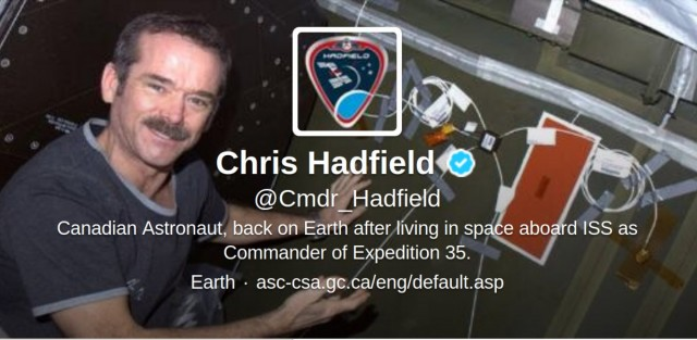 Hadfield on Earth