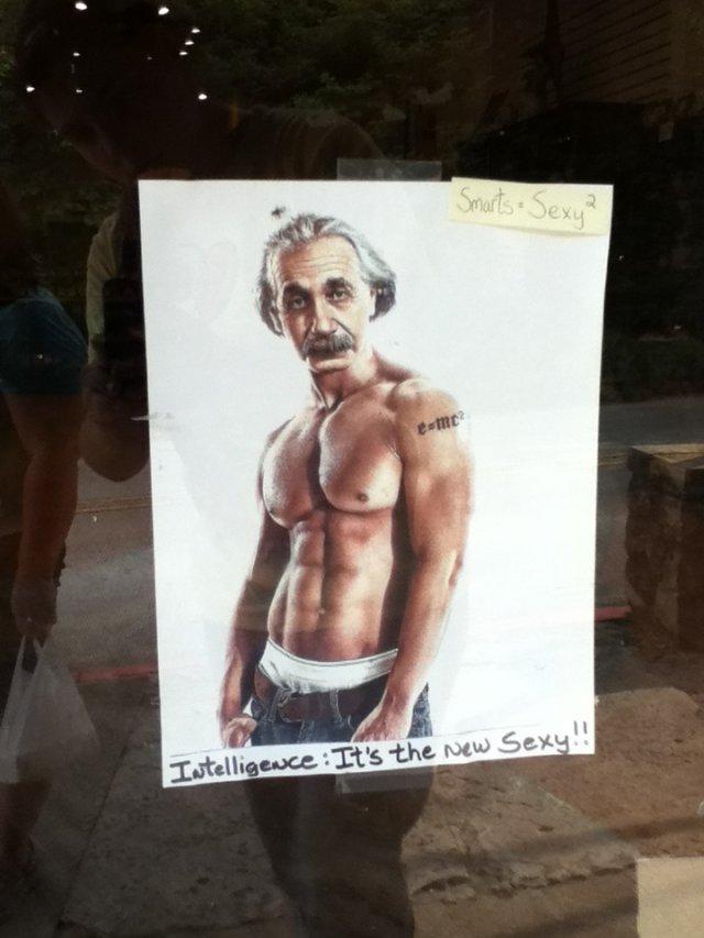 Sexy Einstein