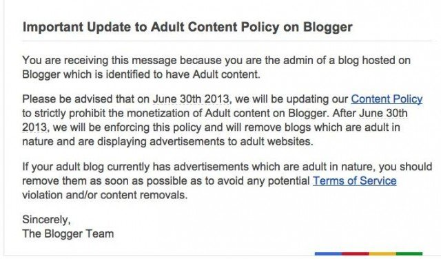 blogger policy