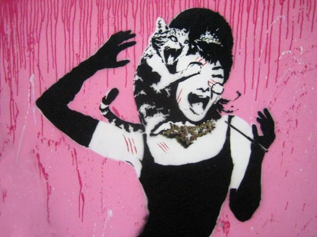 cat attack audrey hepburn