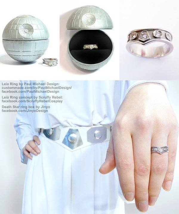 victoria - Star Trek Wedding Ring