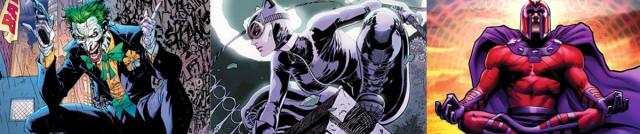 Joker 29%. Catwoman 14%. Magneto 12%.