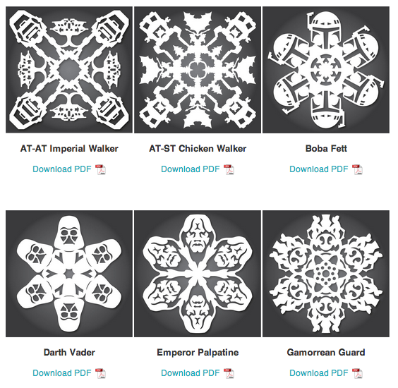 The 2013 collection of star wars snowflakes has arrived the mary sue christmas pronofoot35fo Image collections