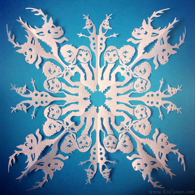 Frozen Superhero Paper Snowflakes The Mary Sue Snowflake Template