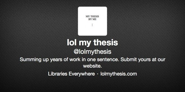 My thesis