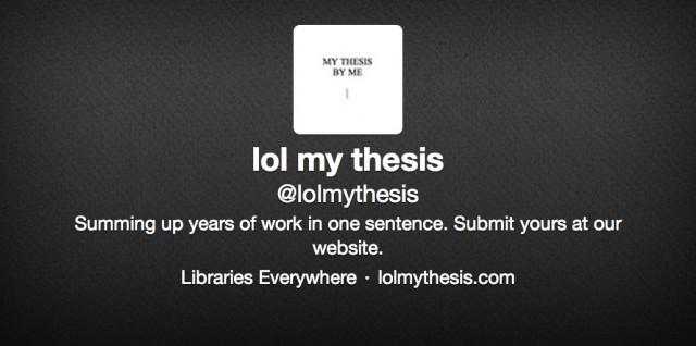 Make my thesis