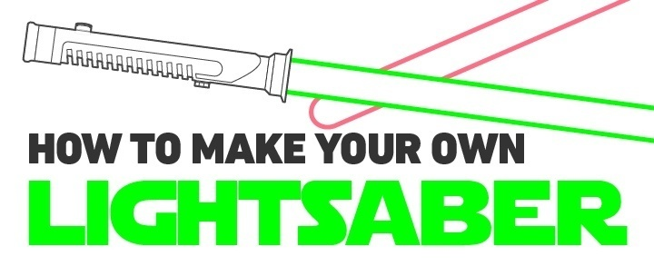 diy build your own lightsaber infographic the mary sue