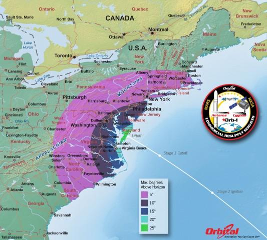 orbital viewing map