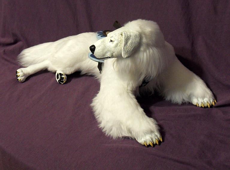 Incredibly Lifelike Doll of Avatar Korra's Polar Bear Dog, Naga