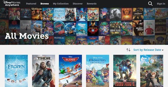 Disney Movie Streaming Network With 400 Titles Frozen ...