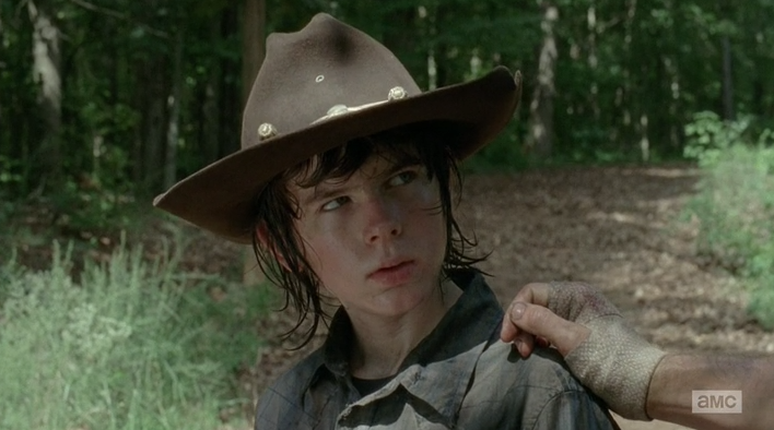 I may have actually cackled Walking Dead Carl