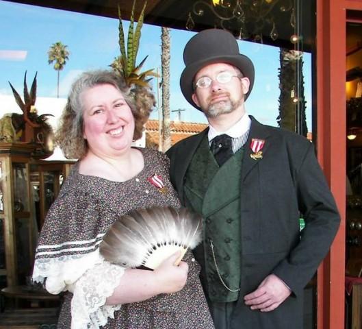 Kim Keeline and her husband James: riff raff.