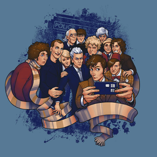 Is this doctor who selfie the source of selfies the for Paul smith doctor who shirt
