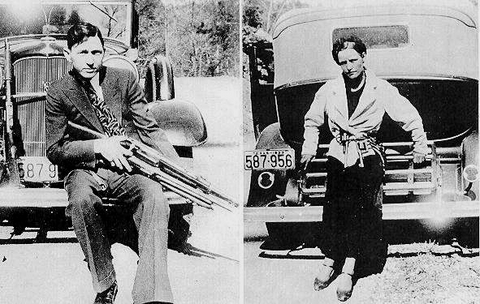 Bonnie and Clyde were shot to death - 1934 Crime Magazine