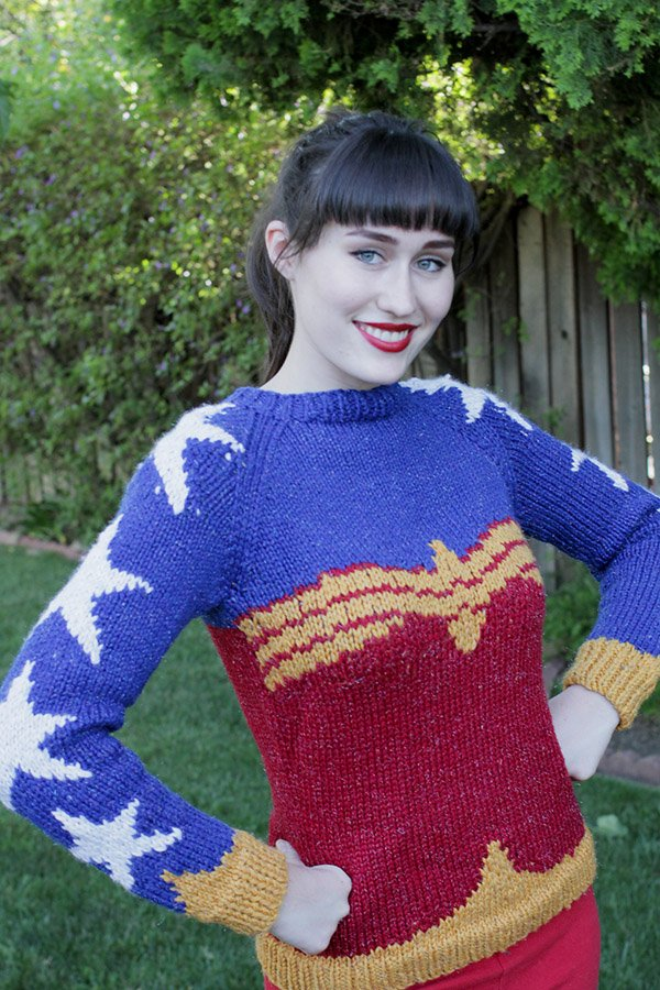 DIY Wonder Woman Sweater With Free Pattern | The Mary Sue