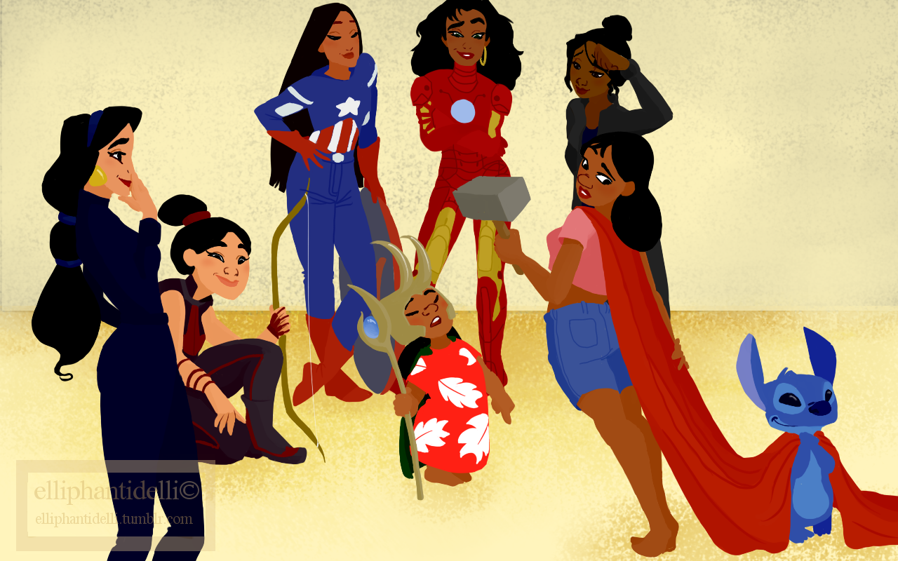 - Disney Princesses Of Color As The Avengers The Mary Sue