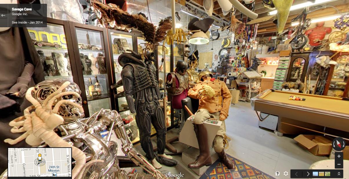 Man Cave Store San Bernardino : Google street view tour of adam savage s workshop the