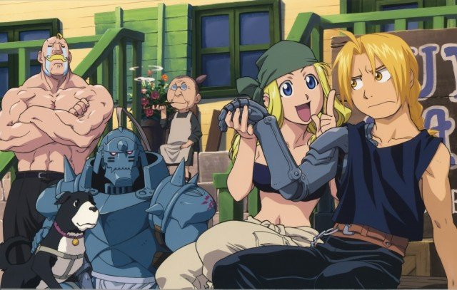 Edward Elric And Winry Rockbell Married The Elric brothers with their