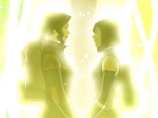 Korra and Asami in Legend of Korra finale.