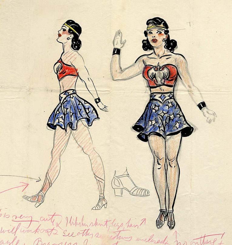 The First Ever Sketch Of Wonder Woman Now For Auction The Mary Sue