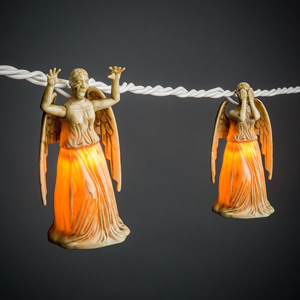 Doctor Who Weeping Angel String Lights   The Mary Sue