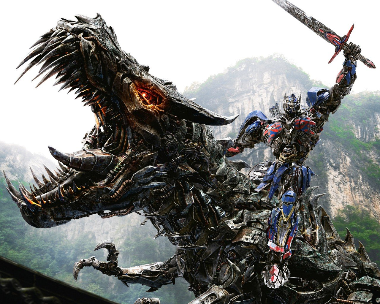 Grimlock Optimus Prime In Transformers 4 Age Of Extinction Wallpaper 1280x1024