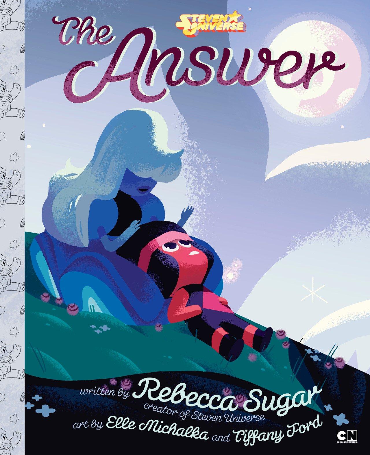 Book Cover Art Generator : Rebecca sugar children s book steven universe quot the answer